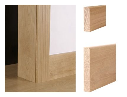 Solid oak contemporary pencil round architrave and skirting board