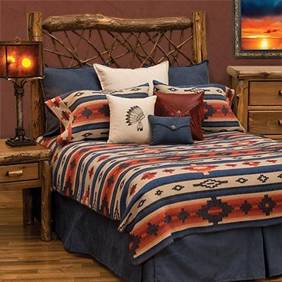 The Red Rock Canyon Bedspread Collection will handsomely update your traditional Southwestern bedroom decor with a fresh perspective on classic geometric design and styling.