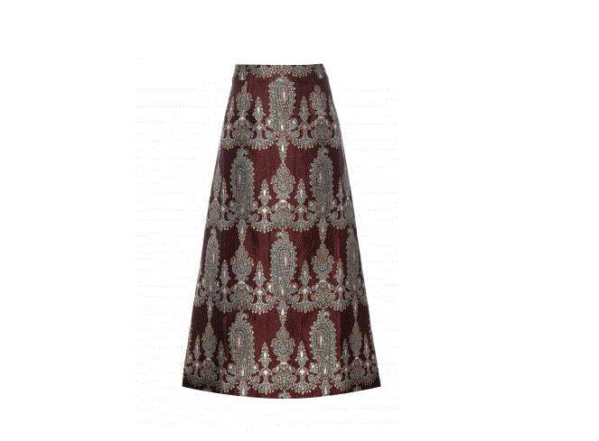 Gonne lunghe Inverno 2016 - Gonna lunga jacquard Alessandra Rich