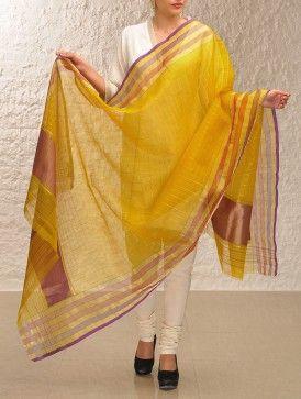 #mustard #gold #handloom #benarasi #kora #dupatta #jaypore