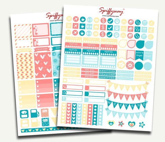 Pastel Planner Stickers Kit  Printable Stickers Set  by Spiffyway https://www.etsy.com/listing/257010414/pastel-planner-stickers-kit-printable?ref=shop_home_active_14