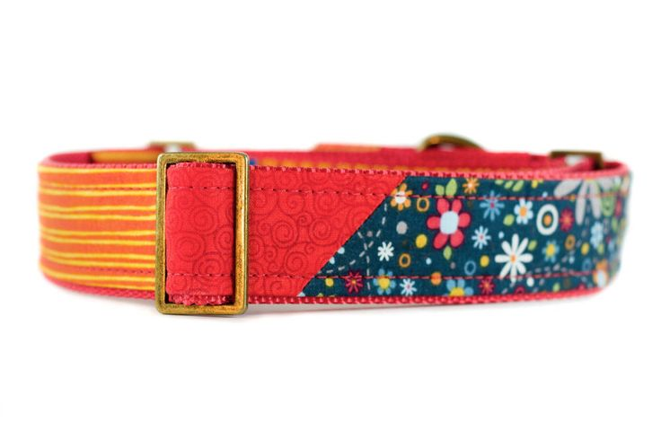 Martingale Dog Collar, Pretty Dog Collar, Gifts for Dogs, Unique Dog Collar, 1.5 inch Martingale, Fabric Dog Collar, Large Colorful Collar by PuppyRiot on Etsy https://www.etsy.com/listing/270568496/martingale-dog-collar-pretty-dog-collar