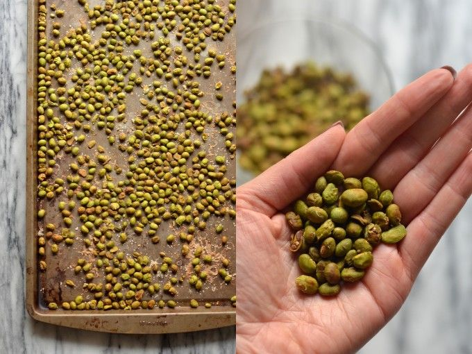 Crispy Dry Roasted Edamame | coffeeandquinoa.com