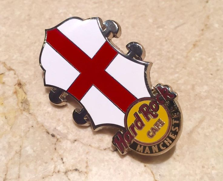 NEW PIN ALERT: On sale now whilst stocks last! #ThisIsHardRock #StGeorgesDay #England #Manchester
