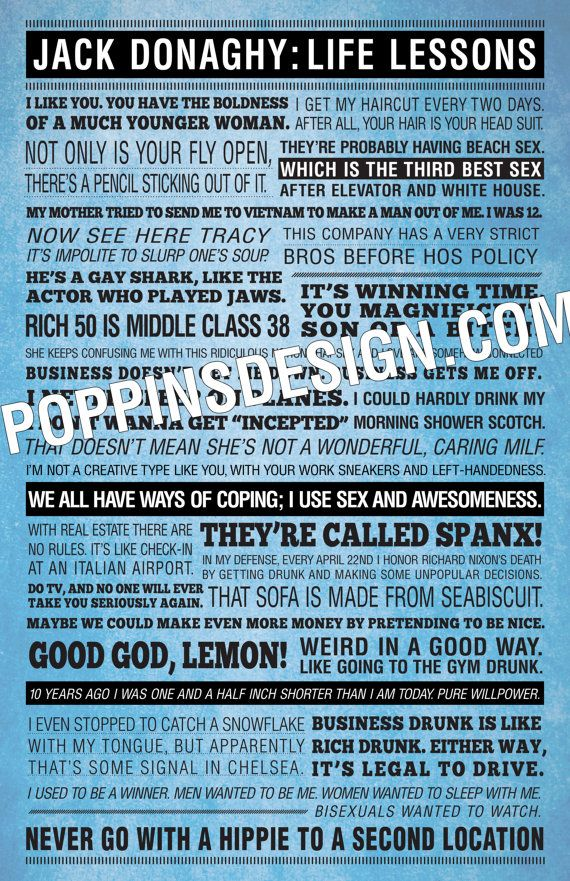 30 Rock JACK DONAGHY Quotes Poster