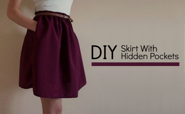 How To Make A Skirt With Hidden Pockets - A Splash Of Tan