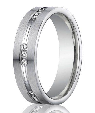 designer 950 platinum channel set diamond mens wedding ring 6mm