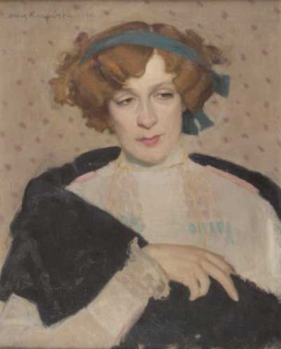 Alfons Karpiński Portret aktorki Janiny Zarzyckiej, 1910