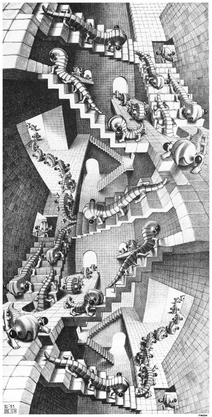 Escher art | ... marvel only an artist could dream up† - life evolving in to art