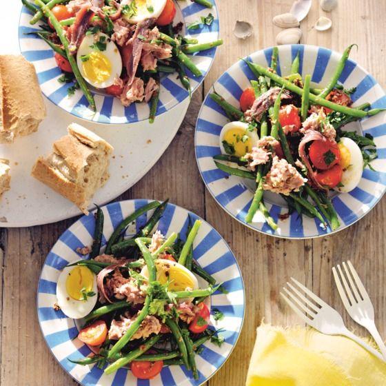 Het recept van de dag is: Salade niçoise met tonijn, tapenade en ei!