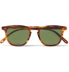 Garrett Leight California Optical Brooks 47 D-Frame Tortoiseshell Acetate Polarised Sunglasses