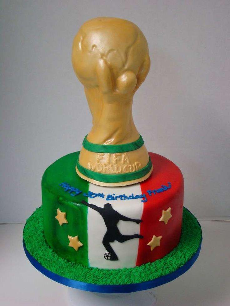 Decorazioni Torte Italia - Torta dell'Italia campione del mondo