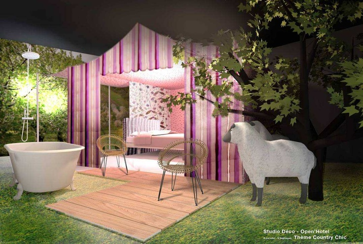 4 вариации  на тему OPENHÔTEL:  COUNTRY CHIC – природа, деревня, романтика… Это палатка категории люкс, «зеленая» терапия, отдых и расслабление