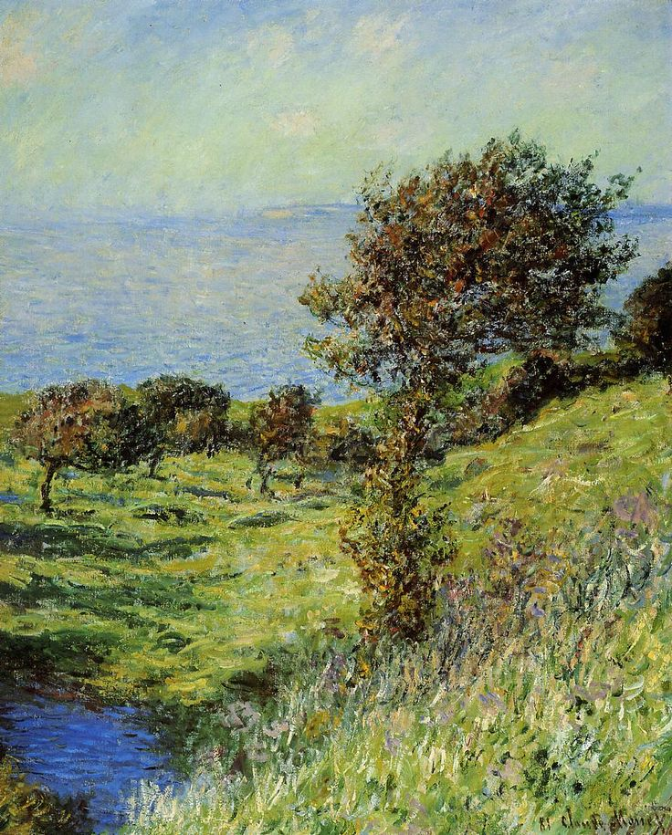 Cliffs of Varengeville, Gust of Wind, 1881 Claude Monet