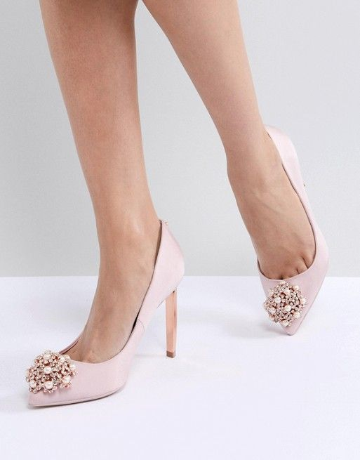 0d9fb89ad Ted Baker Peetch Light Pink Embellished Shoes