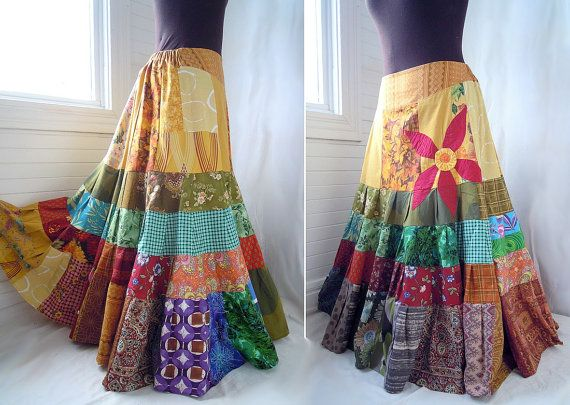 Boho Gypsy skirt this is why I need to learn to sew--Awesome summer skirt!