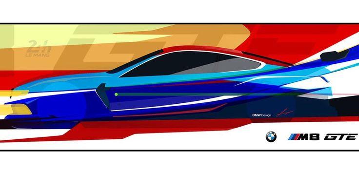BMW Teases 2018 M8 GTE Le Mans Race Car With A Sketch #BMW #BMW_M8
