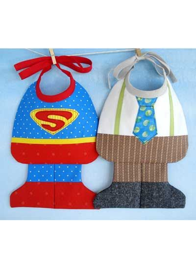 Super Baby & Little Man Bibs
