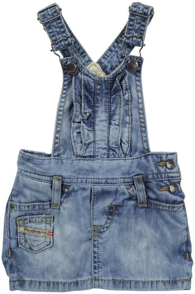Diesel Jean Romper - Denim Dartyb light weight bleached denim ruffled overall dress More Details