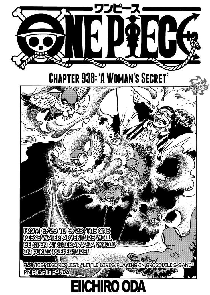 One Piece 938 Manga Stream One piece chapter, One