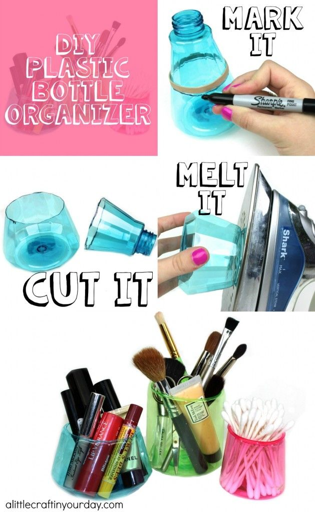 DIY Plastic Bottle Organizer - A Little Craft In Your Day