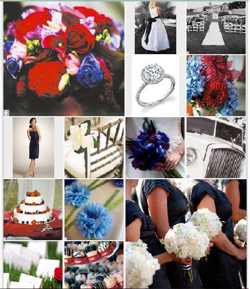 Red, white, & blue wedding