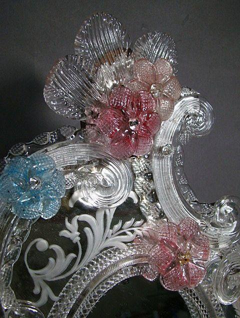 Antique Murano glass mirrors images - Antique Venetian Murano Glass Vanity Mirrors