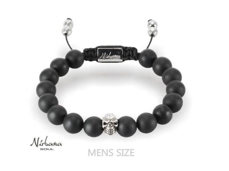 Nirbana Soul - Amagon - Mens Skull Onyx bracelet