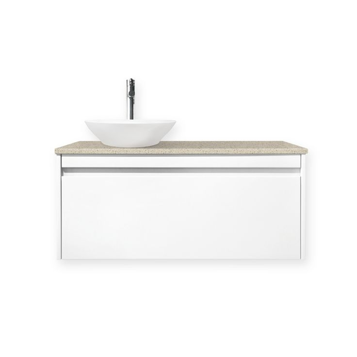 Quay 900mm Lexicon Colourstone Organic Wall Hung Vanity $789