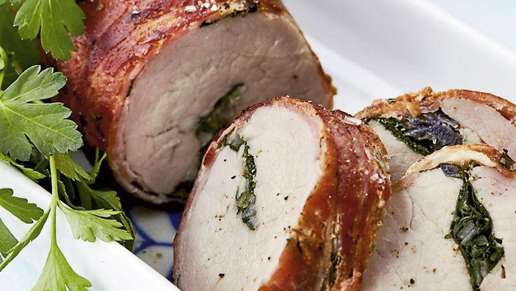 Lav en lækker hovedret med svinemørbrad og et væld af bacon