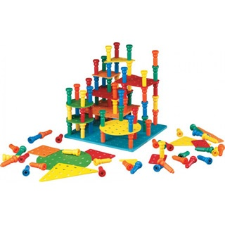 Building and stacking: 100 Tall, Tall Stacker, Stacker Pegs, Set Teaches, 17 Crepe, Crepe Rubber, Stacker Building