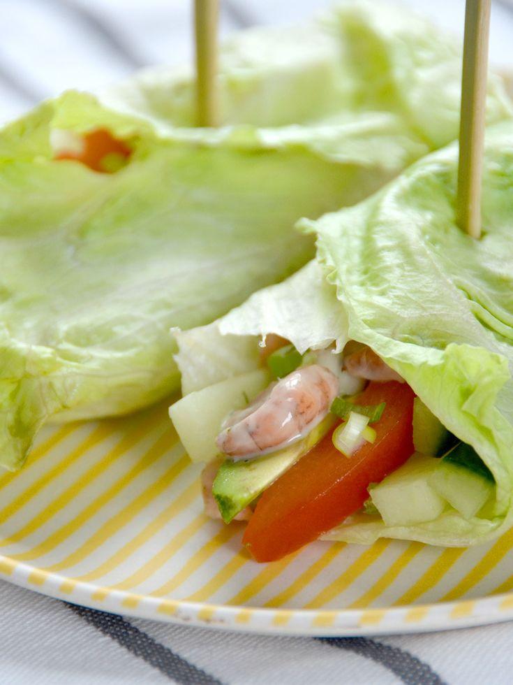 Sla wraps met garnalen - My Simply Special