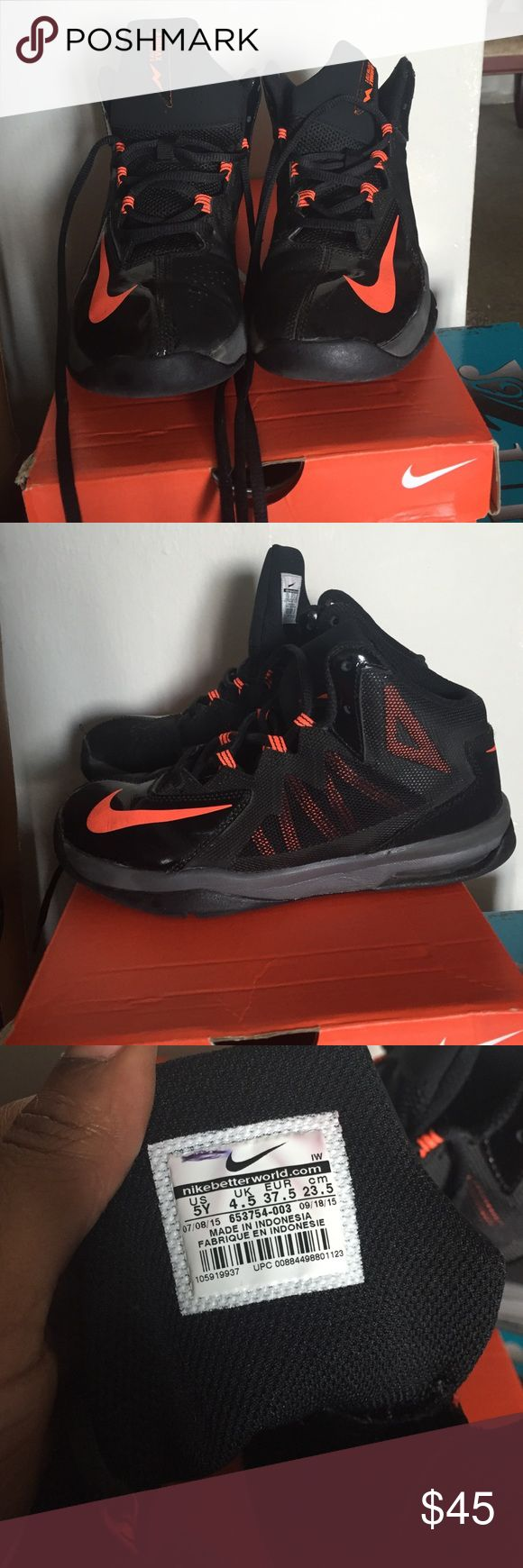 Boys Air Max Stutter Step 2 Boys Air Max Stutter Step 2, Size 5, super comfy, neon orange color is great w/ the black , great pair of quality sneakers Nike Shoes Sneakers