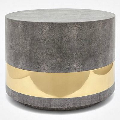 Glam And Texture Are The Hallmarks Of The Brass And Gray 70s Inspired Stone Coffee Tablecoffee