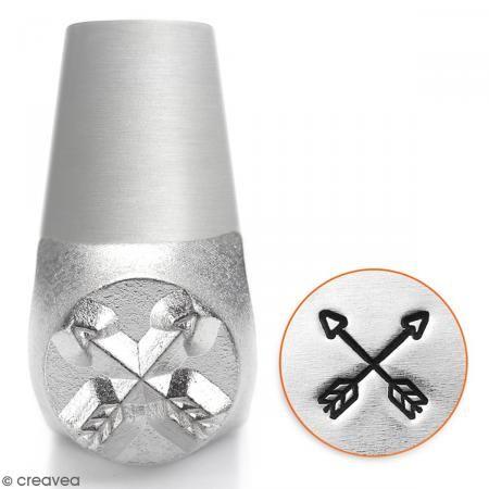 Tampon poinçon pour gravure métal - Flèches tendances - 6 mm - Photo n°1
