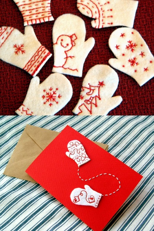 Inspired. Beautiful Handmade Christmas Cards w Embroidery