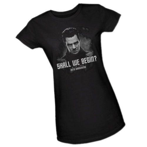 """Shall We Begin?"" Star Trek Into Darkness Womens T-Shirt"