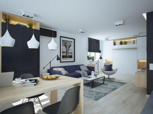 2 modele de apartamente mici amenajate cu mult stil- Inspiratie in amenajarea casei - www.povesteacasei.ro