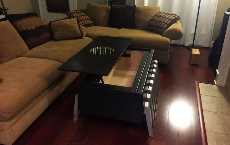 DIY EPROM coffee table is installed with UV erasable memory chip