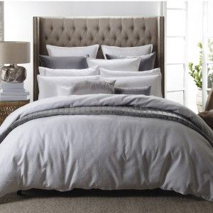 Chinese Key White Matelasse Duvet Cover Set