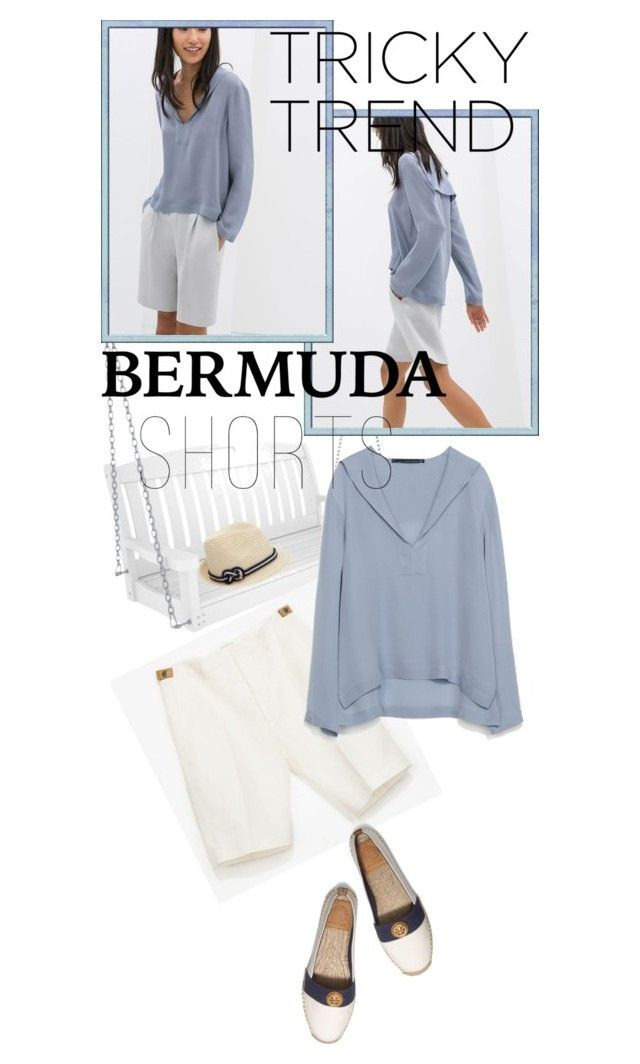 Tricky Trend: Bermuda Shorts by betiboop8 on Polyvore featuring Zara, Tory Burch, TOMS, Eugenia Kim, Polywood and Bermudashorts