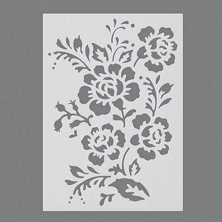 Stencils, Pochoir de Haie Rose/1 pièces universelle, DIN A 5: Amazon.fr…