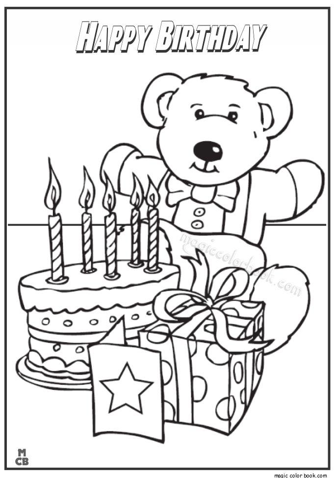 28 besten birthday coloring pages bilder auf pinterest