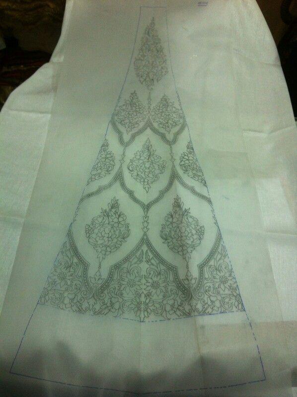 Conceptual bridal lahenga design