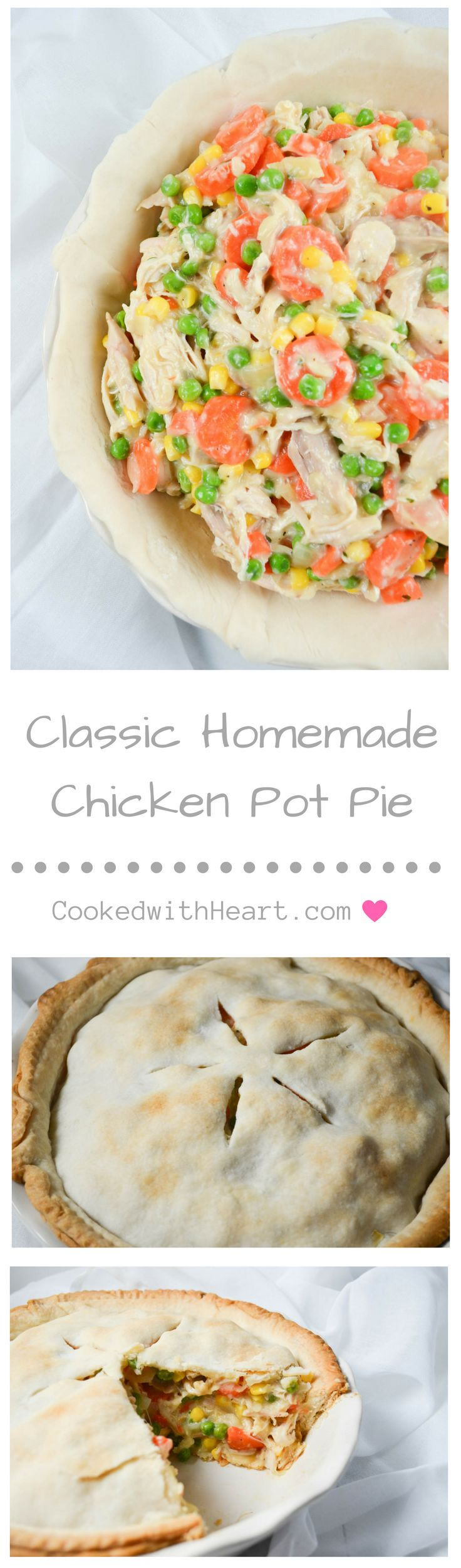Classic Homemade Chicken Pot Pie packed with rotisserie chicken and loaded with tons of vegetables!