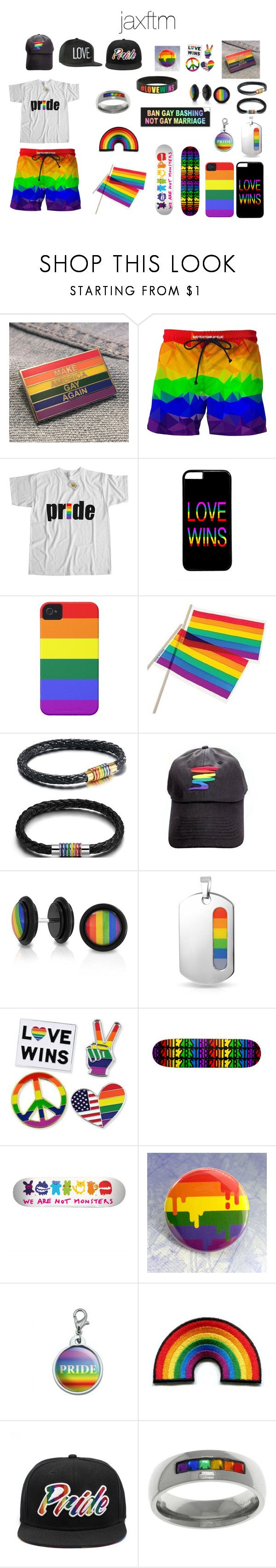 """Gay Set 1"" by jaxftm on Polyvore featuring Case-Mate, Bling Jewelry, Carolina Glamour Collection, gay, pride and pridemonth"