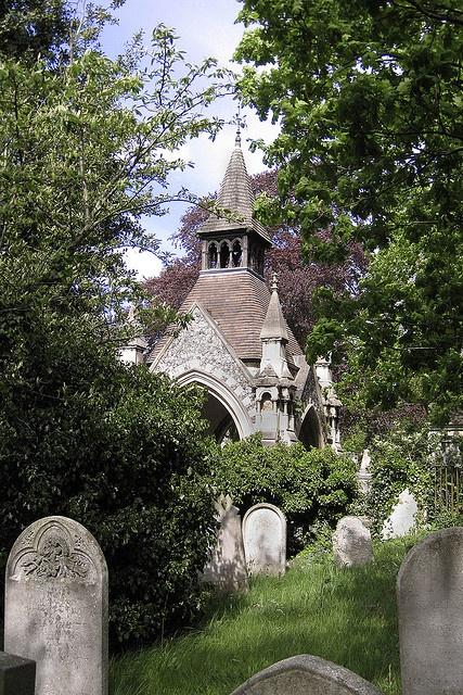 Rosary Cemetery Norwich.  Chapel built by Edward Boardman.