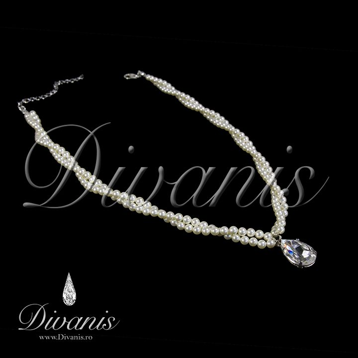 Doriath Necklace with Swarovski crystals and pearls http://www.divanis.ro/colier-doriath.html