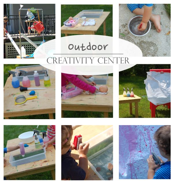Playful Learning: Outdoor Creativity CenterPlays Learning, Outdoor Center, Outdoor Fun, Creative Center, Outdoor Plays, Outdoor Creative, Activities, Creativity, Creative Centre