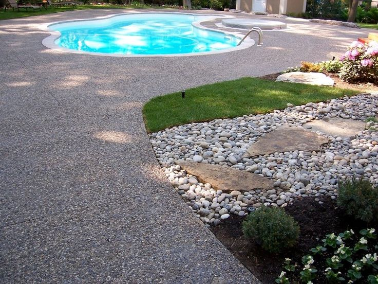 14 best exposed aggregates pool deck images on pinterest